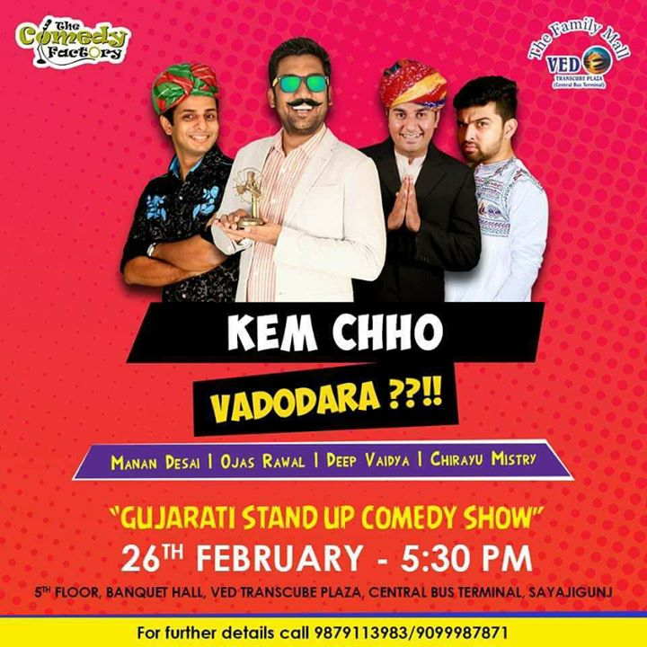 Vadodara! This is happening in awhile. Tickets available at the venue. Student discounted tickets.. Grab them @ Rs. 150 only. See you in awhile. #tcf #vadodara #gujarati