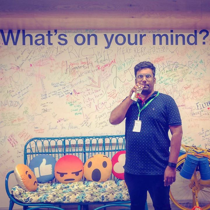 Free Juice at Facebook is what I was looking forward to all my life. What a great office!!! Thank you everyone at Facebook Mumbai for having me over.  #Facebook #Mumbai
