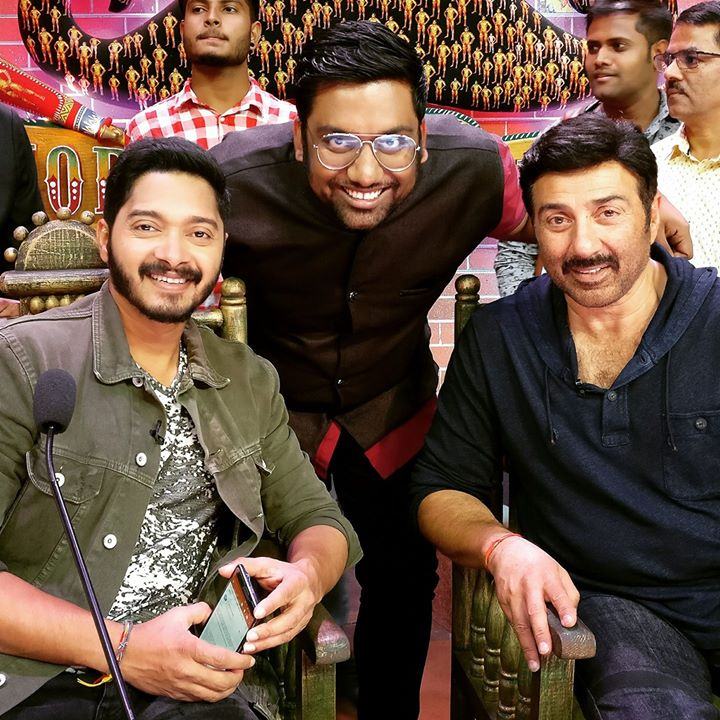 Shot for my first episode for Comedy Dangal with Poster Boys   Don't miss this episode on 9th September on AndTV  #StandUpComedy #BhartiSingh #SunnyDeol #ShreyasTalpade #PosterBoys