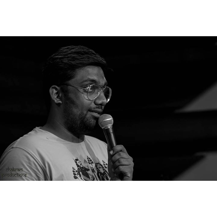 This was clicked precisely when I completed 6 years on stage as a stand up comedian. 26th August 2017.  Thanks to www.instagram.com/chakram_productions  #StandUpComedy
