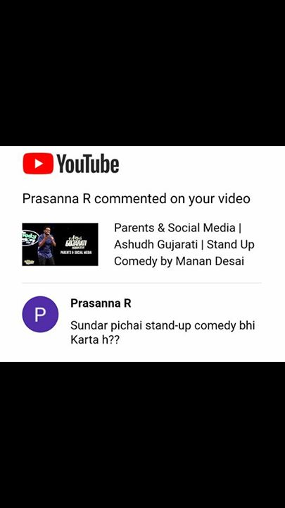 Manan Desai,  StandUpComedy, Comments, YouTube