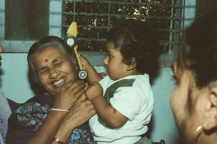 When I was involved in a hit and run with my NANI !  #HappyChildrensDay