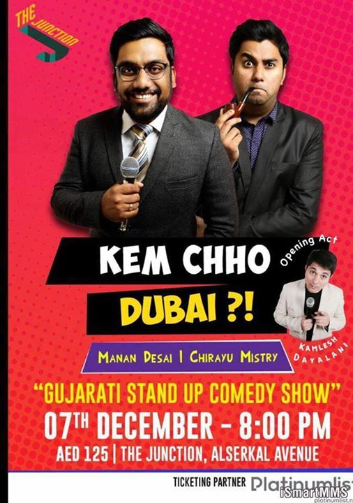 Doing a public show in Dubai for the first time. It is Gujarati Stand Up Comedy. Sharing stage with the amazing Chirayu Mistry   Tickets on The Platinum List --->> https://goo.gl/t8edY7