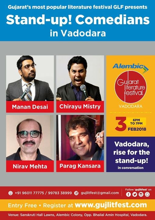 Doing something amazing this weekend. having a wonderful conversation with the fellow comedians of Vadodara.  #StandUpComedy #GLF