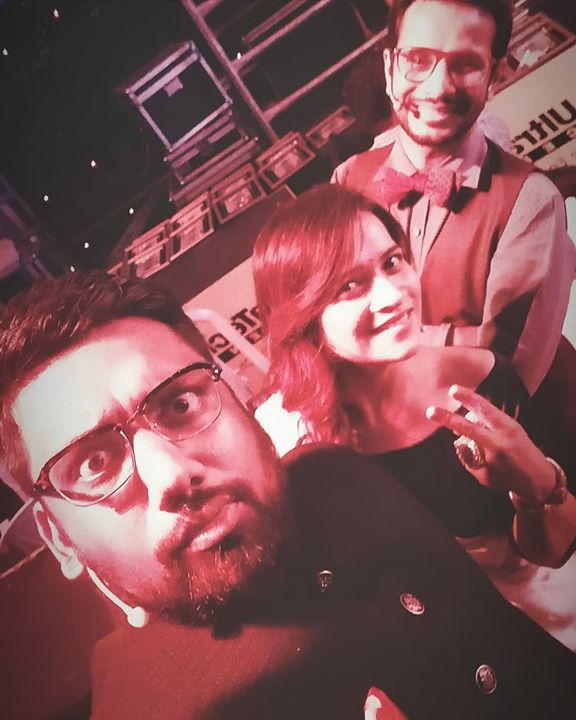 Hosted a event for UltraTech Gujarat with more than 10k people in the audience and @faroutakhtar @shankarehsaanloy headlining the event at the @transstadia   Thank you @fh_experience for giving me this opportunity. The fun wouldn't have been possible without the company of @vidhiparikh19 and @ojasrawal   #GigLife #TheComedyFactory #Hosting #anchoring #Transstadia #Ahmedabad #FarhanAkhtar #shankarehsaanloy #UltratechCement #Gujarat #FountainHead #LiveShow