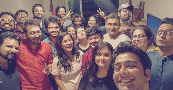 What a fun night with such great talents!! Mehfil-e-dry was rocking. Thank you @parthmusic for doing this.   #HighOnMusic #HouseParty