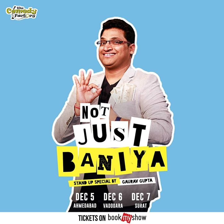 So finally we are getting back to producing shows for fellow comedians outside Gujarat. We have some big announcements on the way but don't miss this show in your respective city. As @gaurav_comic will be doing his first ever Gujarat tour. Don't miss this madness. Many more shows lines up.  #thecomedyfactory #StandUpComedy #GauravGupta #Baniya #NotJustBaniya
