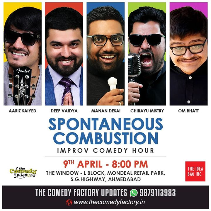 Kaale. Improv comedy hour. An hour of unscripted madness. Ahmedabad... Don't miss it. Tickets at the venue.   #thecomedyfactory #improvcomedy
