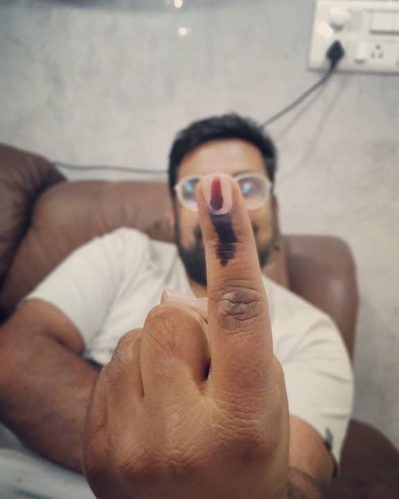Manan Desai,  elections2019, voter, voting