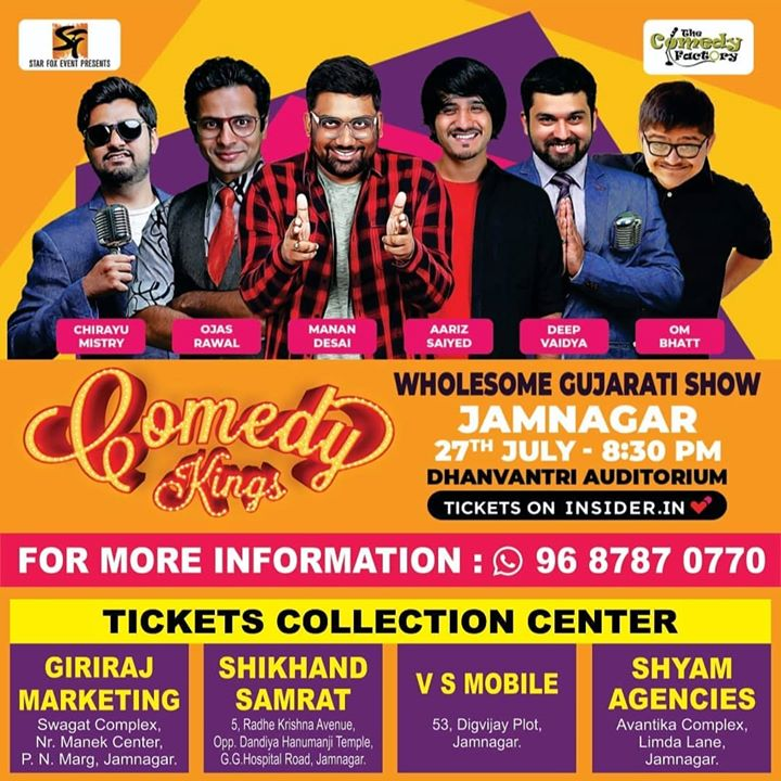 Tomorrow in Jamnagar! Tell everyone you know who stays there. Really excited about this one. @starfox_events   #thecomedyfactory #wholesomegujaratishow