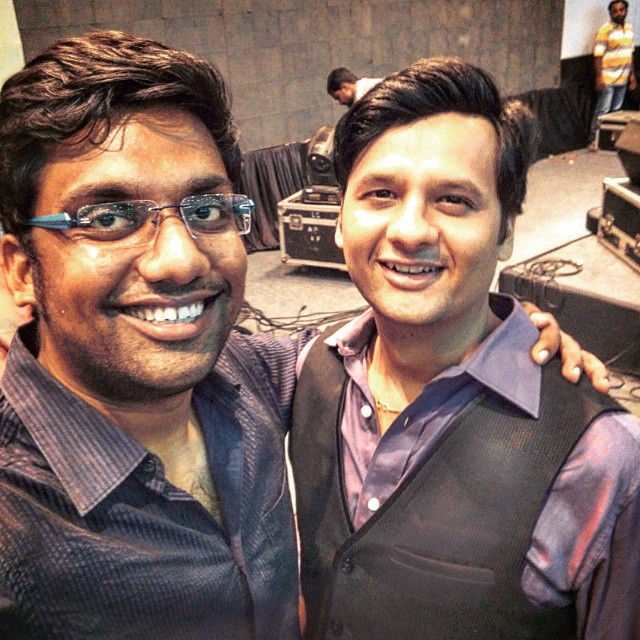 Meeting him after so many years. So much of Nostalgia. One of my mentors during my Radio Days. Dragged him on stage with us to do comedy during a show he was hosting and we were there performing. I did my first Radio link with him... He did his first Improv Comedy act with me.. Life comes to a full circle. So much fun with RJ Dhvanit. Thank you Brother.
