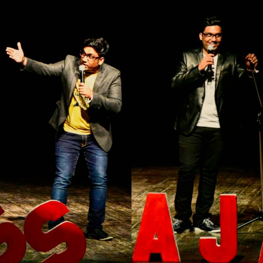 Which look do you think is better? Such great times at Weirdass Pajama Festival Ahmedabad. Both Shows were rocking. You really missed something great if you were not there. #pajama2016 #standup #ahmedabad