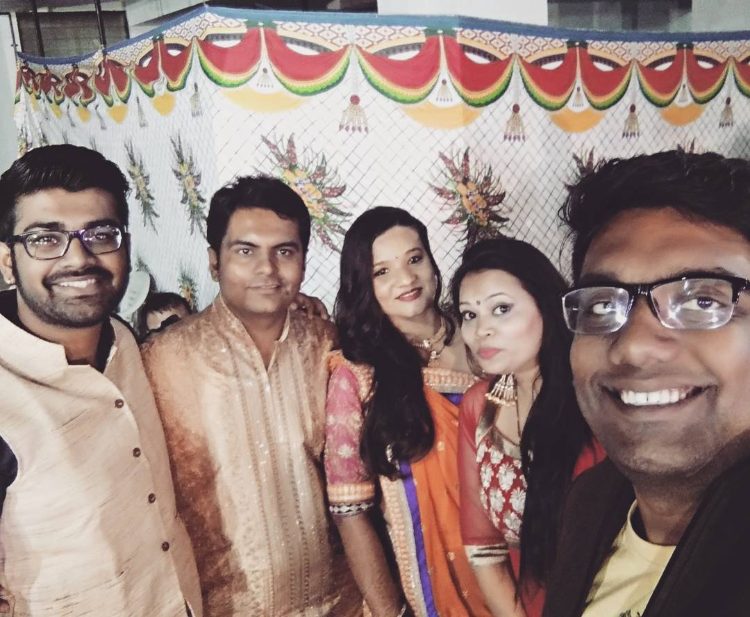 Best Buddy getting married. So much fun & happiness! All of us together after a long time. Missed @vidyajanakiraman