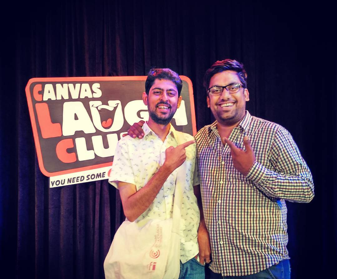 Finally shared stage with the amazing Varun Grover. Writer & Lyricist. #standupcomedy