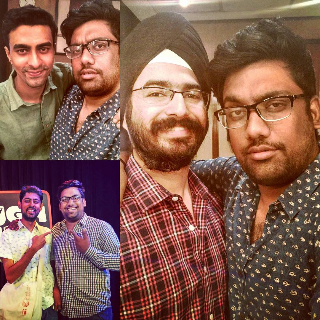 Mazaa aa gaya sharing stage with these 3 gentlemen during last 5 days. @angadranyal @varunthakur & Varun Grover. #standupcomedy