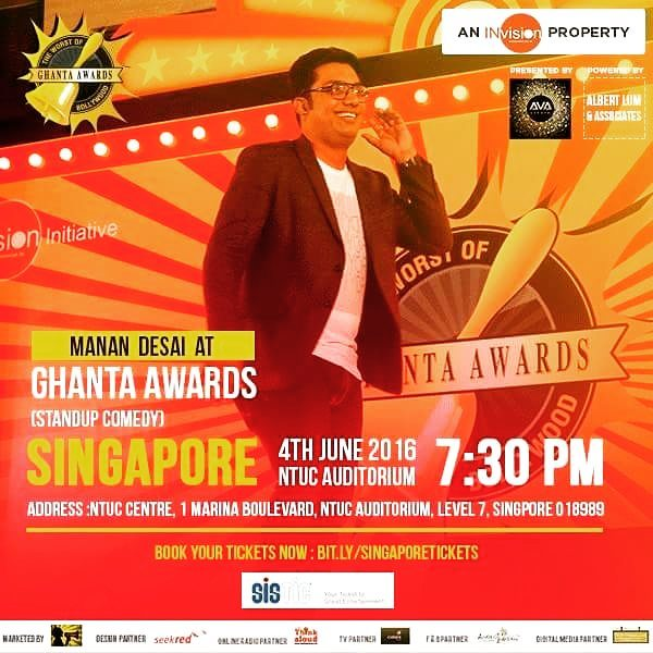 I'll be going to Singapore this week for @theghantas - Let your friends and family know. Shall be fun!