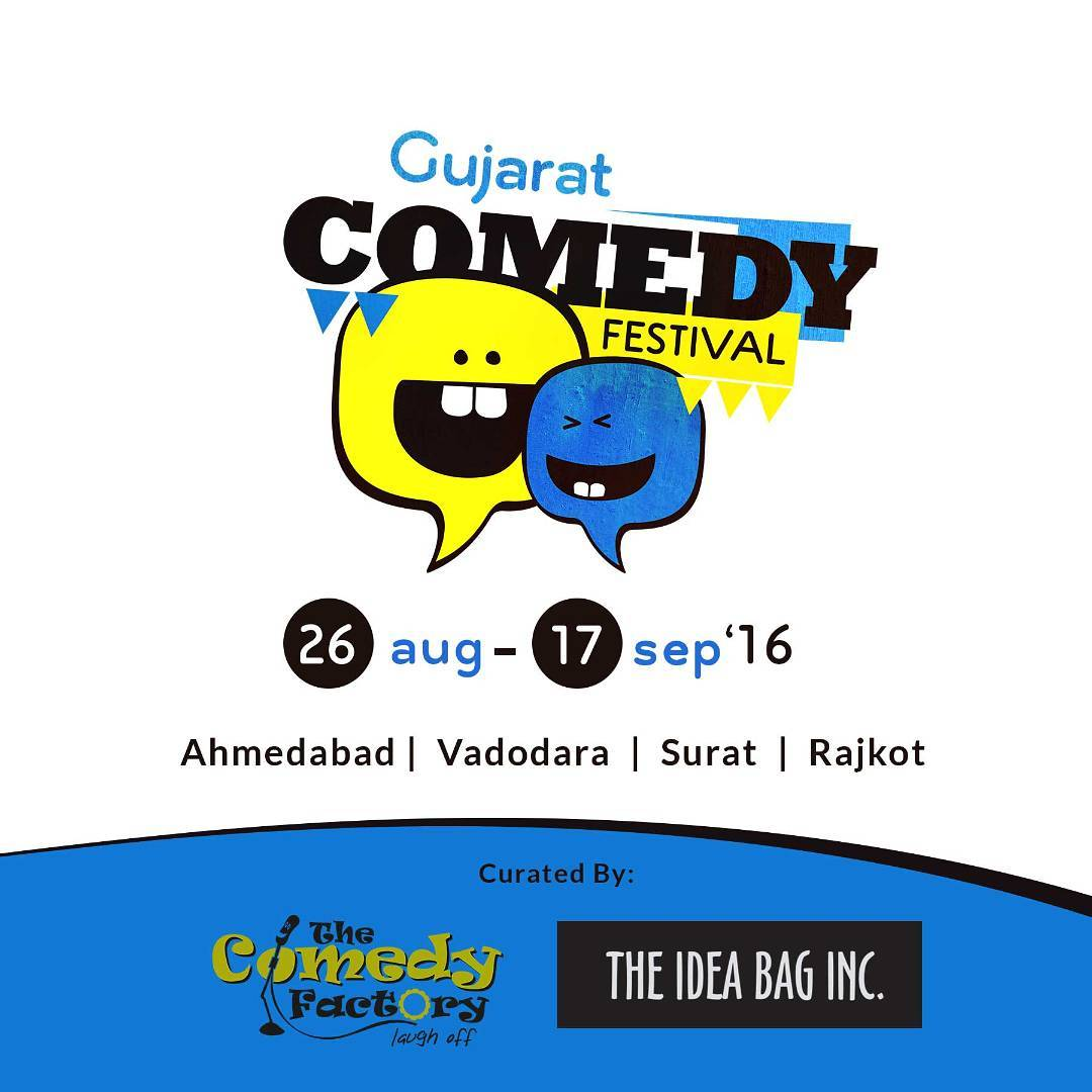 Gujarat is going to laugh a lot more now. We are set to have our own comedy festival. Curated by The Comedy Factory & The Idea Bag Inc.  Tickets going live soon :) @thecomedyfactoryindia @gujaratcomedyfestival  #gcf_2016