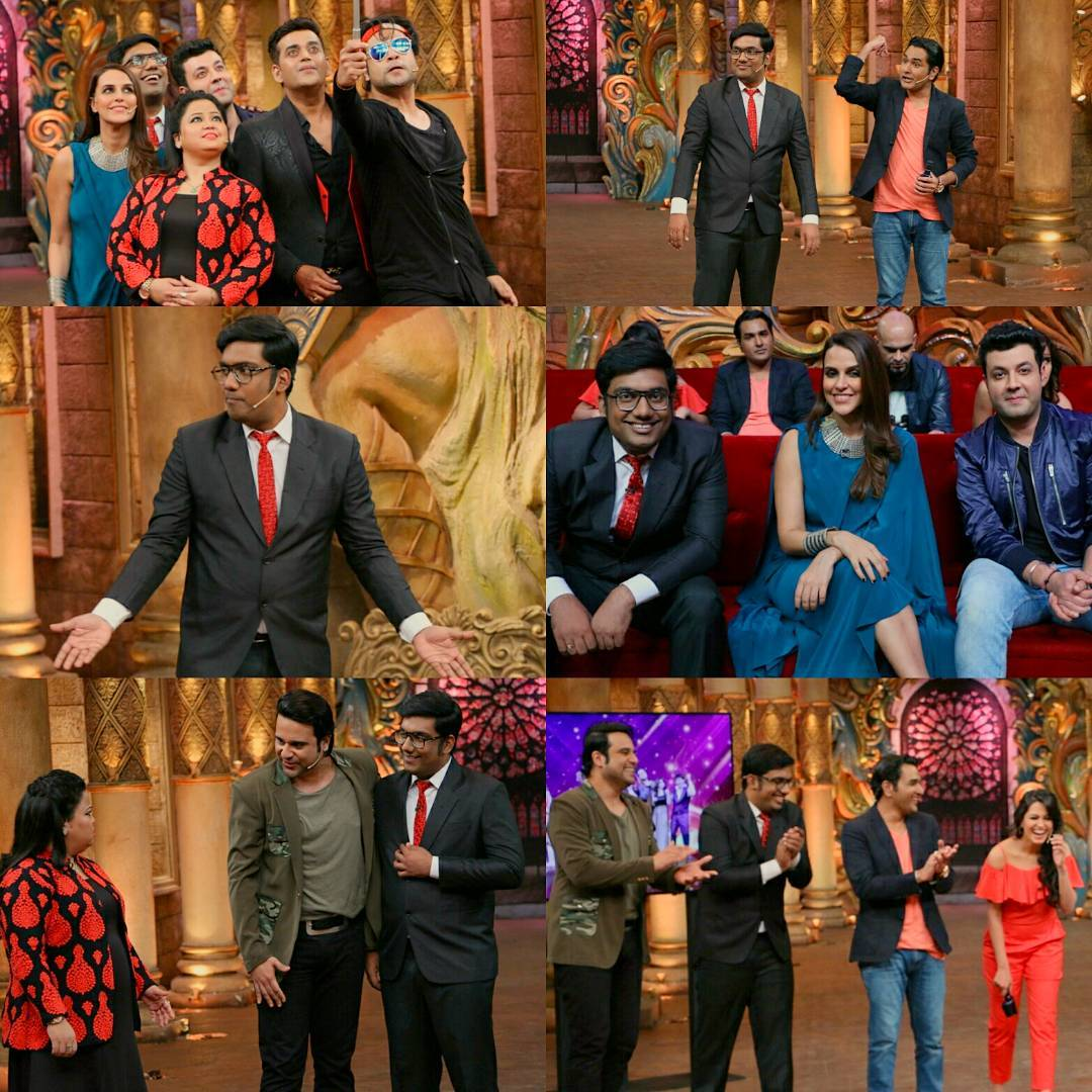 Absolutely Last Plug In. Watch me being edited tonight (I dunno kitna edit hua hai) on Colors @ 10 PM.  This is a special episode of COMEDY NIGHTS BACHAO. Reverse Roast episode where in I participated as a guest comedian along with Varun Sharma, Neha Dhupia & Ravi Kishen.  I've roasted Bharti Singh and Karan Wahi. And our team consisted of Mubeen Saudagar and Anita Hasanandani. So much fun to share stage with such amazing people.  One last request. Spread the word and make sure to watch the episode. Shall be madness over all.  #comedynightsbachao #cnb