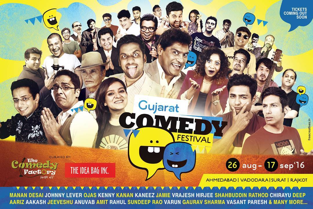 Comedy is taking over Gujarat in a few weeks. I am excited and nervous about performing at and producing for @gujaratcomedyfestival - THIS is HUGE! spread the word. Ticket sales start very soon.  #gcf2k16