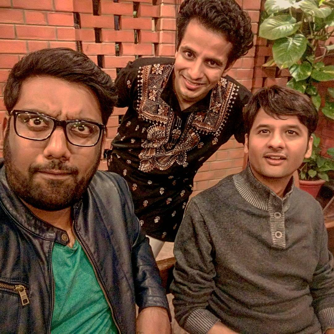 What's cooking between these 3? @rjdhvanit @ojasrawal  #shoot #soon #youtube