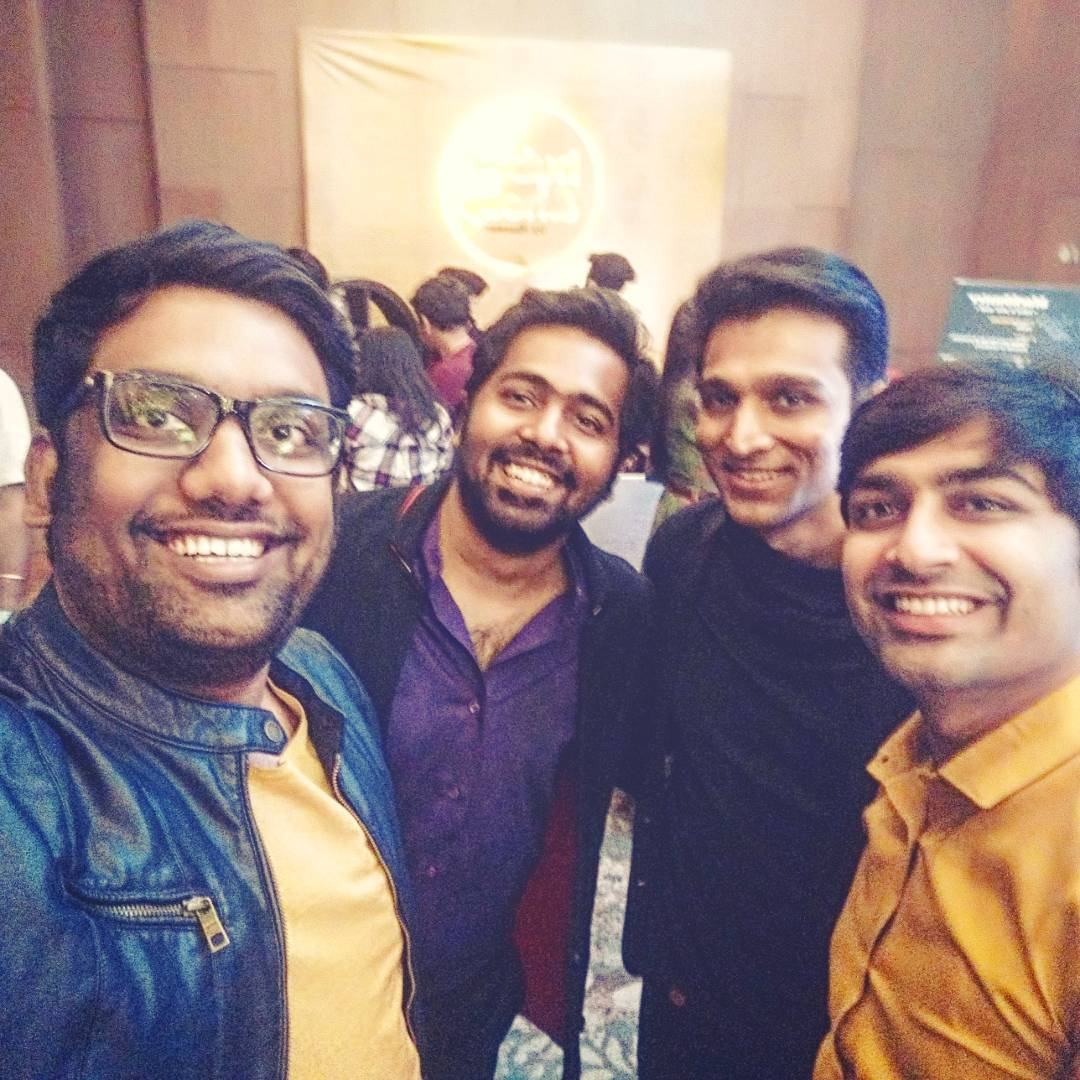 Always fun to hangout with like minded Gujaratis. Best Company!! @mikhilmusale27 @pratikgandhiofficial @malhar028  #TimesFoodAward #gujarati #Industry
