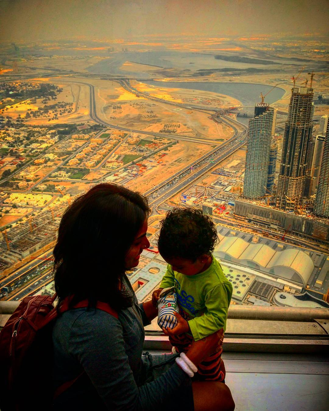 My World View! #AtTheTop #burjkhalifa #Dubai #family #124floor