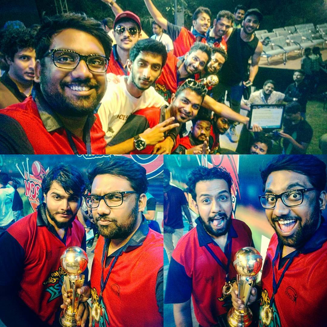 Best team WINS!! We (Superstar Khelaiyas) won against Rangila Rockstars in the first ever Gujarat Celebrity Match organised by UDAAN. Well played everyone! @mitragadhvi - I'll always remember for you to not give me that over. Aarjav Trivedi is the man of the match. It was truly an entertaining evening. #gccm #cricketforcause #udaan