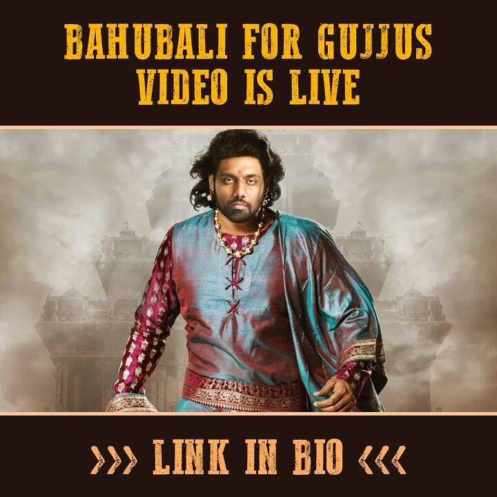 Naya video is live. Had a lot of fun. Thanks to @wtfx.in for the help. Like, Share, Subscribe. #Bahubali #Gujjus