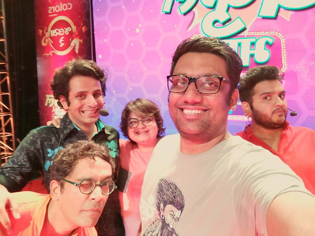 What a fun night at Karnavati Club in Ahmedabad with these insanely crazy talents for Colors TV. #standupcomedy #improvcomedy #sketchcomedy