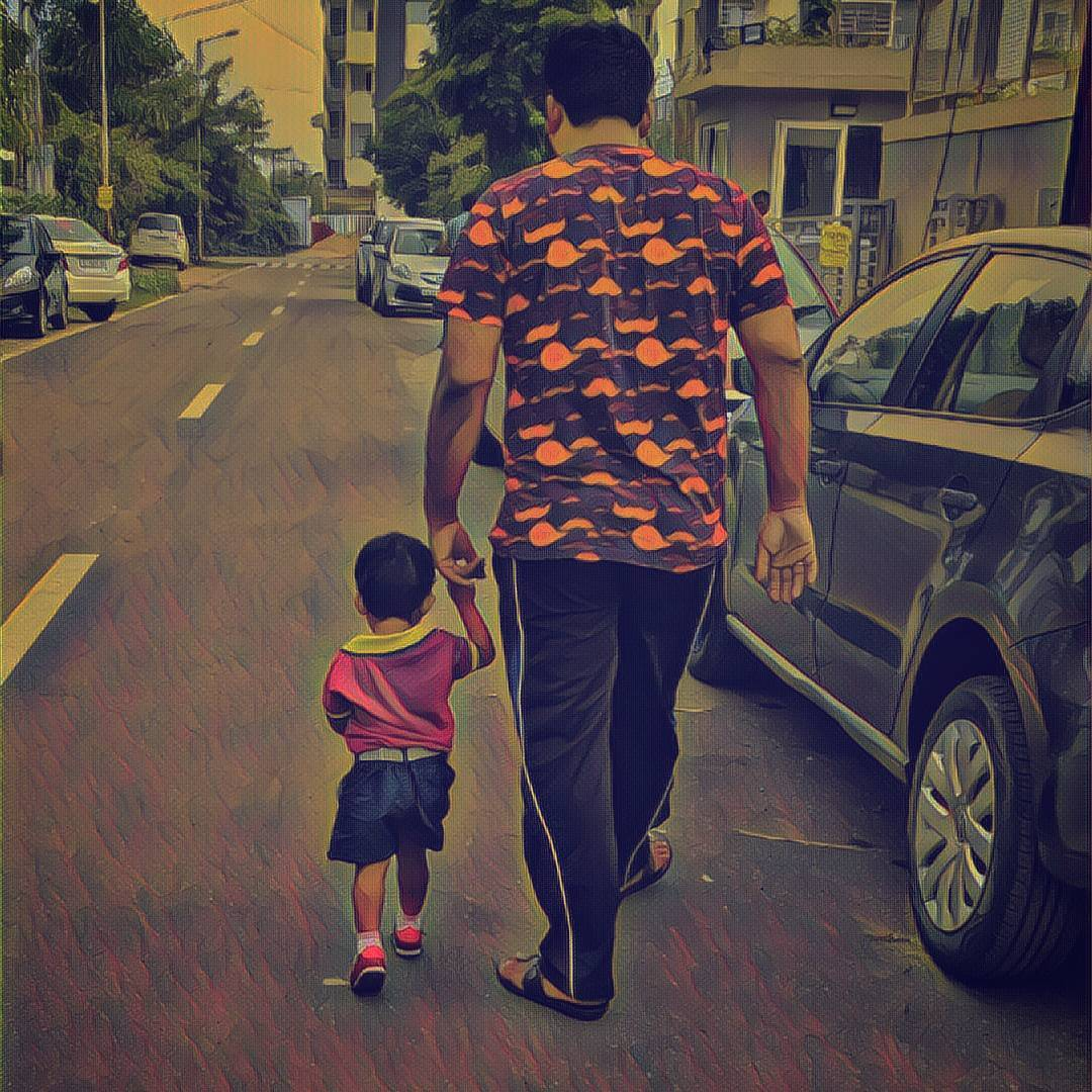 Manan Desai,  Daughter, Father, Preschool, FirstDay