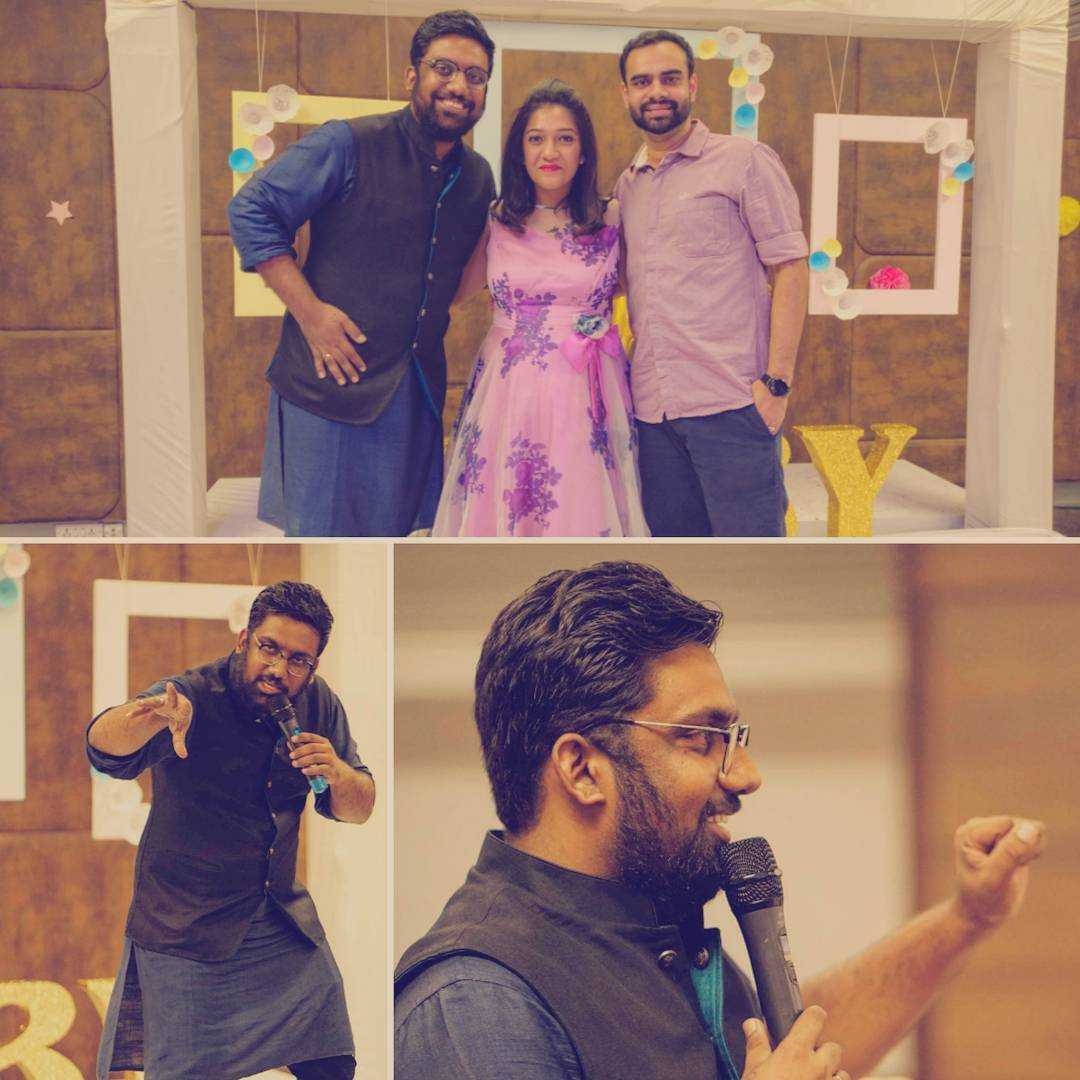It is always such a good experience to perform for intimate social functions. Aashima & Sahil... Had so much fun hosting and performing for your Baby Shower. I had a great time !! Thanks @Rushi1895 for the clicks.  #StandUpComedy #Games #interaction #babyshower