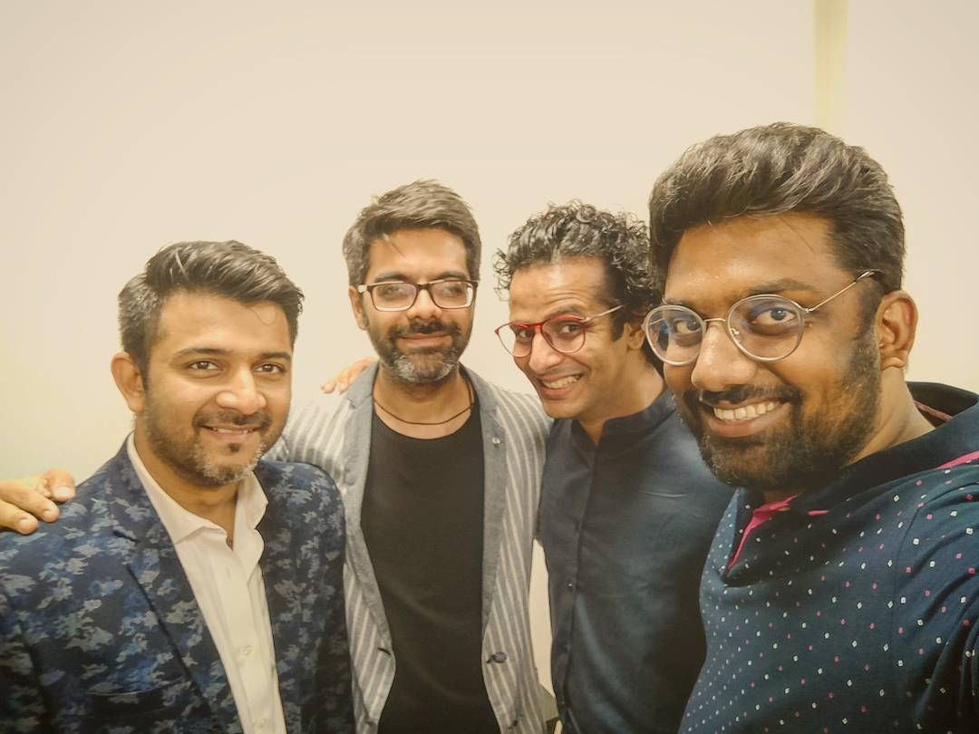 Brothers in Arms. Contributing to the world of Music and Comedy especially in Gujarati. Can't wait to do something together once again.  @soulfulsachin @jigarsaraiya @ojasrawal  #SachinJigar #Music #StandUpComedy #OjasRawal