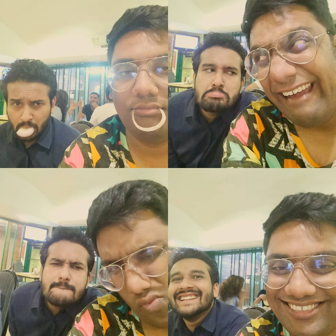 Gujju boys doing Kanda tasting. @sahilbulla you were amazing on stage! One of the best specials to come out this year. Amazing!!! #tatti #potty #sandas #toilet #premkatha #sahilgetschildish