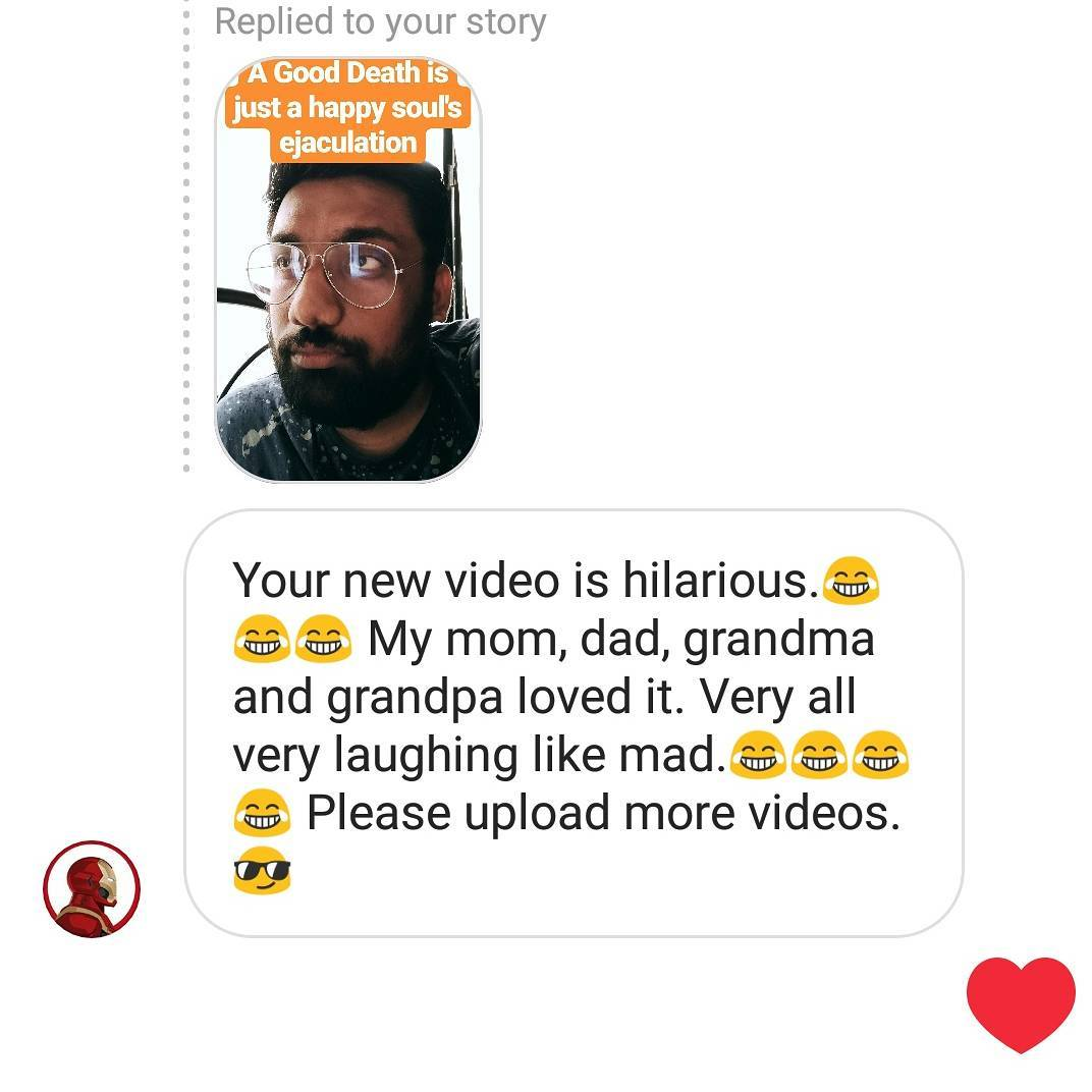 When you make 3 generations of a family laugh... the stupid trolls (Hindi speaking trolls) don't matter.  Have you watched the new gujlish stand up comedy video I released yesterday ???!! Link in Bio. New video every Tuesday.  #StandUpComedy #Gujlish