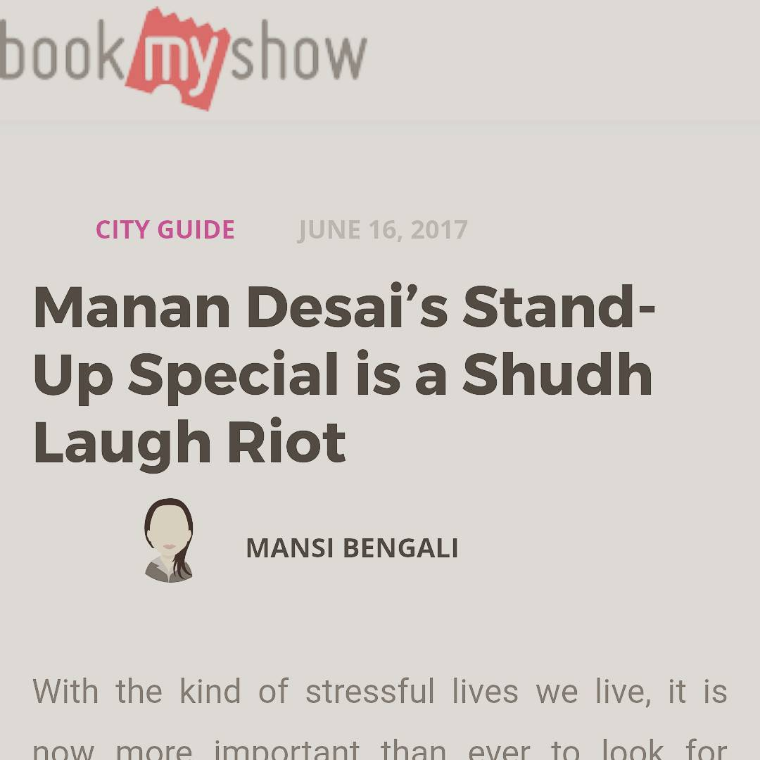 Here's one of the first reviews of the show by @bmsbookmyshow - Gujju Show reviewed by a Bengali. They loved it. I am releasing bits through out this month on my Facebook and TCF YouTube. Don't miss it.  #ashudhgujarati #StandUpComedy #Gujlish