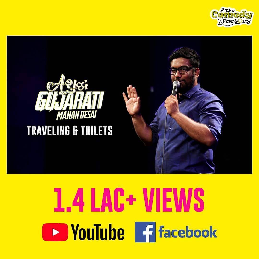 Was trending at #5 (YouTube) two days ago. Great response so far. If you've not watched it yet... Here's the link - https://goo.gl/wCBiPa  Next Video this Tuesday. It's about Amdavadis :) #ashudhgujarati #StandUpComedy #Gujlish