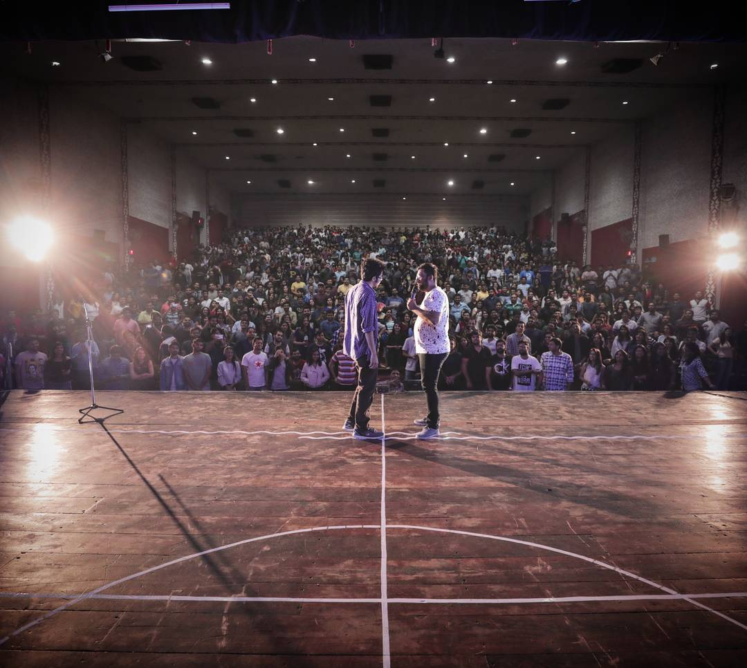 The First Sold Out show for @aupmanyu tour in Gujarat. SURAT !! You've been wonderful tonight. Please be this kind always :) #ThodaSaafBol #AbhishekUpmanyu #TheComedyFactory