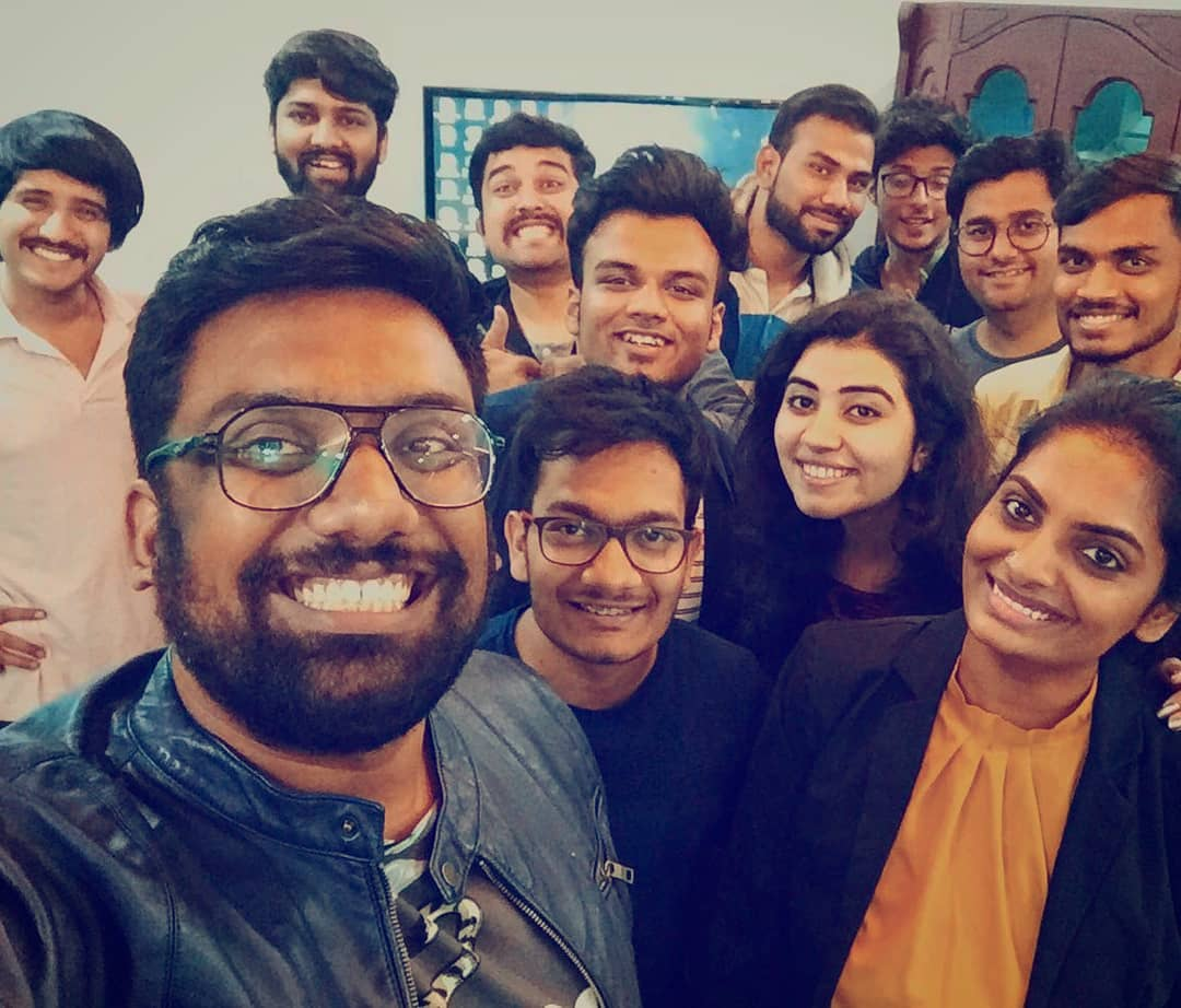 Happy Faces welcoming 2018. Promising a lot more madness.  #TeamTCF #Core #Interns #Comedy