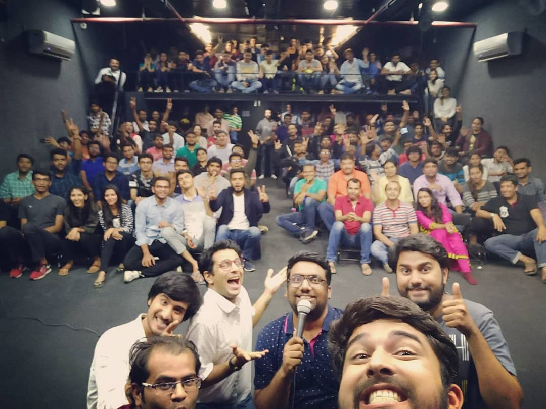 Did this a month back!!! What an amazing night it was despite being a trial show. Ahmedabad we are coming back to you very soon. BIGGER SHOW!! BIGGER LAUGHS!!! #TheComedyFactory #ShowTour