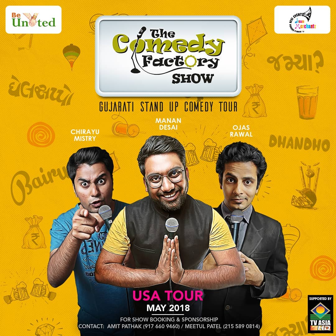USA tour begins 25th April. Schedule will be out soon. Tag all your friends and family staying in states.  #TheComedyFactory #USAtour