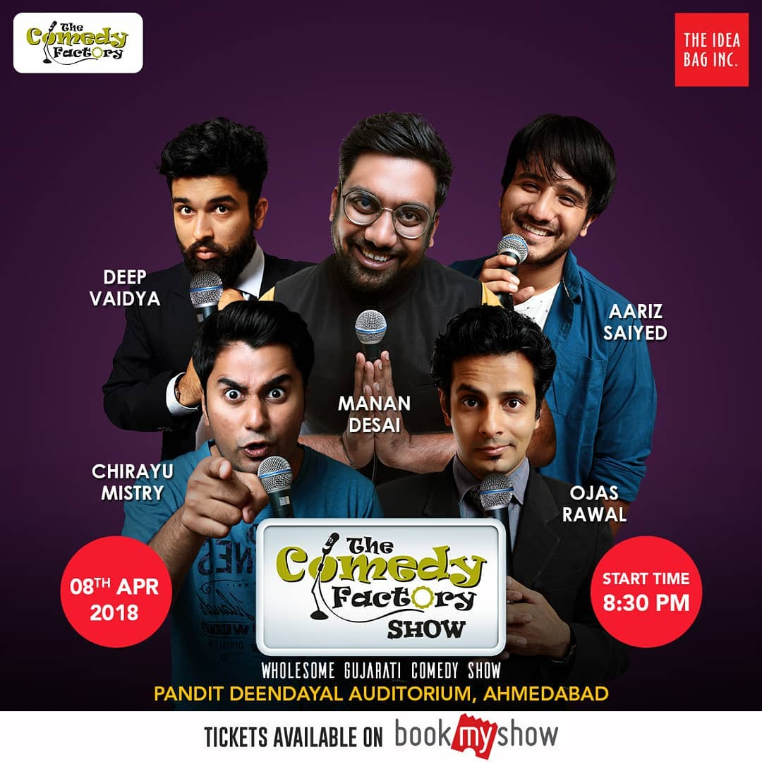 Ahmedabad !!! Madness will prevail as we are going to do our biggest show in Ahmedabad till now. This is probably the best 2 hours of your life. Ticket link in BIO!! #TheComedyFactory #Ahmedabad #GujaratiShow #StandUpComedy #ImprovComedy