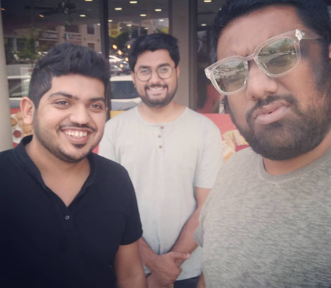 Me with Manjalpur Boys!!! @astrokpj @chirayu_m who are making Baroda proud. It is always amazing when science meets comedy.  #Atlanta #USAtour #Throwback #TheComedyFactory #ligo #scientist