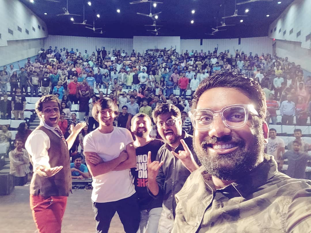 Epic times with Baroda Audience with the best people.  #thecomedyfactory #GujaratTour #LinkinBio