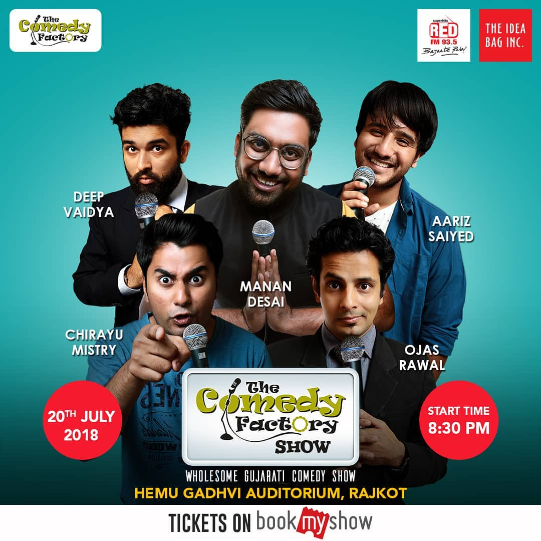 Manan Desai,  thecomedyfactory, wholesome, gujaraticomedy
