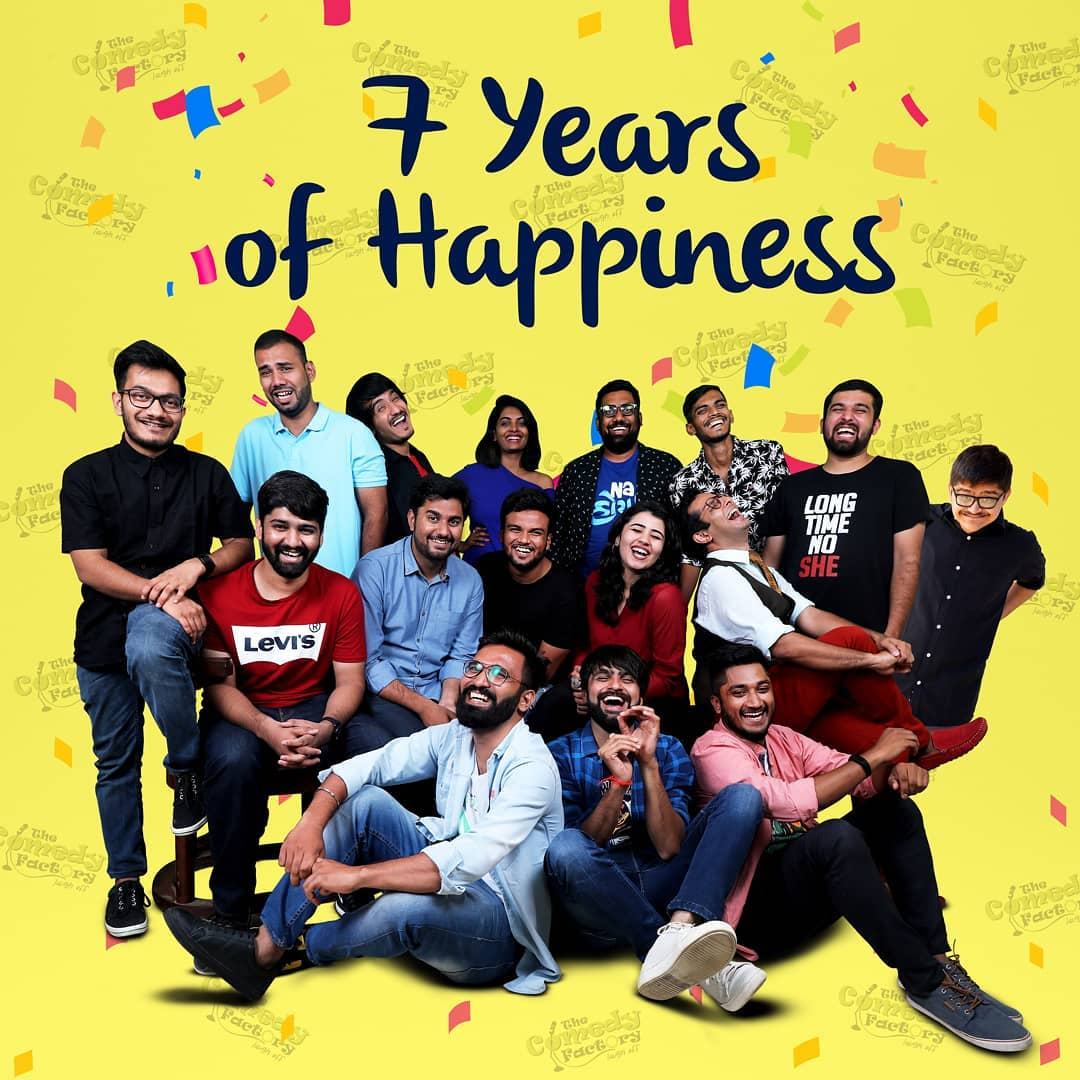 26th August was our comedy bandhan. We compete 7 long years and we reached this far only because of team efforts. Can't imagine my life without my comedy family. This includes the audience as well... Thank you for supporting us through out. Means the world.  #thecomedyfactory #7years