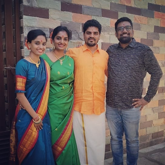 Congratulations Shabri Anna for the new house. It always feels so good to come to Bangalore and visit Vidya's Family.  #GruhPravesh #InLaws