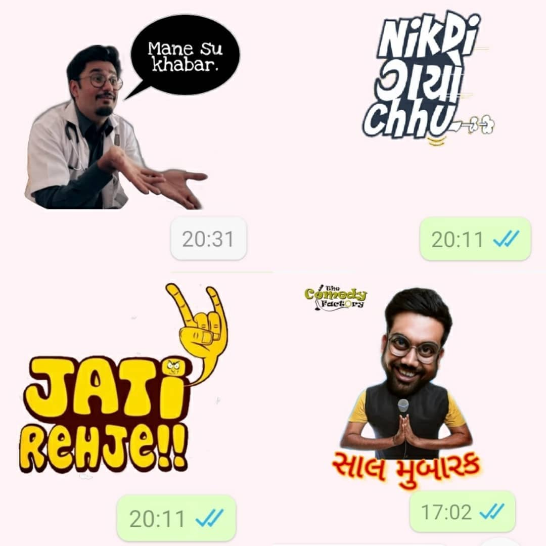 Want these stickers? Just WhatsApp 'Stickers' to 9879113983.  #thecomedyfactory #whatsappstickers #TCFIndia #thecomedyfactoryindia
