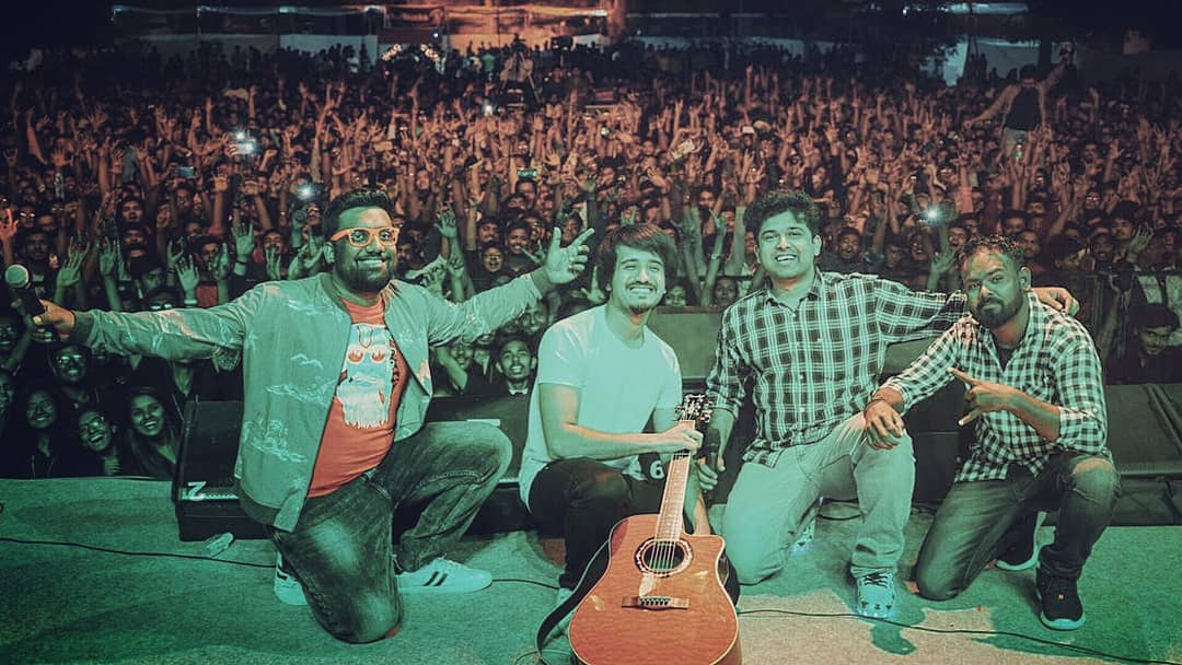 So I did Stand Up Comedy, Rap, Improv Comedy, Musical Comedy, TikTok all for an hour with the boys @aarizsaiyed @nautankideep @mc_classic_23 for the best crowd at @fp_think_beyond  Whattta fun night!! Thanks for all who joined the party.  #thecomedyfactory #footprints