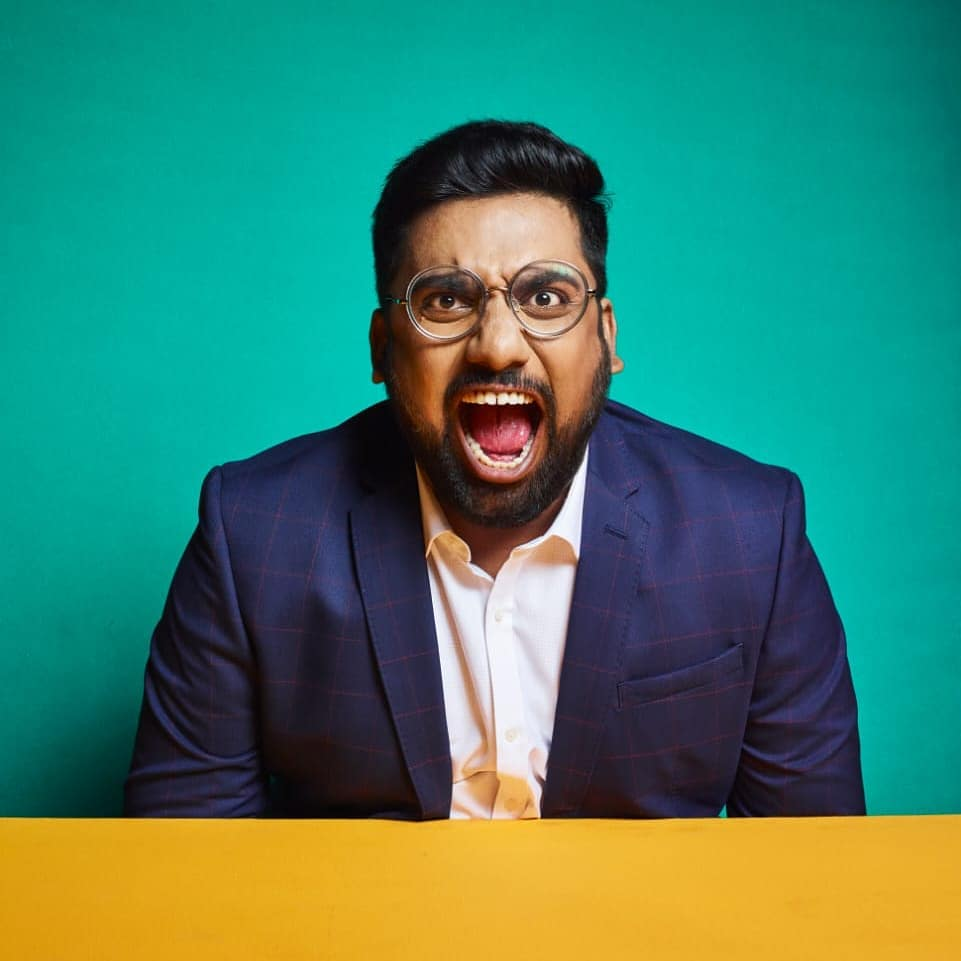 My Angry Politically Charged Up Troll Face.  #thecomedyfactory 📸 - @trupalpandya  Clothing - Manan Desai Make Up - @gayushah.mua  Hair - @hetu.g.83  Location - @weareessentialindia  Production Head - @nautankideep  Creative Director - @arpitaa_15  Production team - Pratik Parmar & Paresh Wadiwala