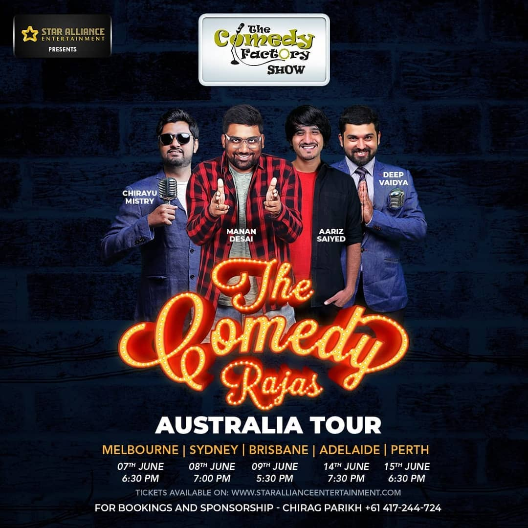 Super pumped for Australia Tour 2019. Majha aayega. Spread the word.  #thecomedyfactory